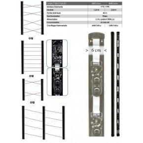 Barrière montée en colonne, câblée . 4 TX - 4 RX.Hauteur : 2 m