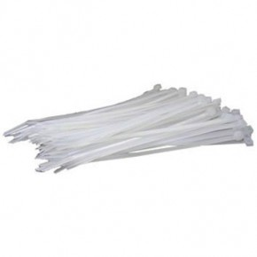 Bourse de 100 brides de nylon blanches avec protection UV 3,6x180mm