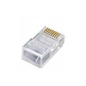 Connecteur RJ45 Cat 6 UTP contacts décalés avec peigne