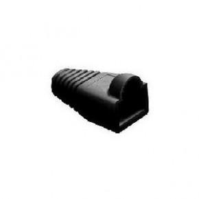 Manchon noir pour RJ45 - Diam 6.1 mm - Paquet de 10 pcs