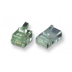 Connecteur RJ11 UTP câble rond - Paquet de 10