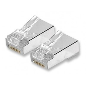 Connecteur RJ45 Cat 5e STP - Contacts alignés - Paquet de 10 pcs