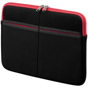 Sacoche Synthétique 10'' pour iPad & Galaxy Tab 10'' - Noir Rouge