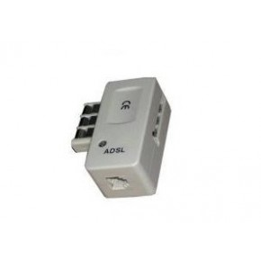 Conjoncteur gigogne RJ11 avec filtre ADSL BLISTER