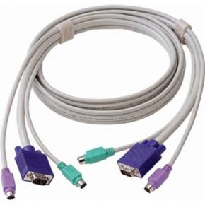 Cordon KVM VGA M / M - 2 x MiniDin 6 M / M - 5 m