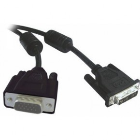 Cordon DVI-A M (12+5) - VGA HD 15 M - 1,8 m