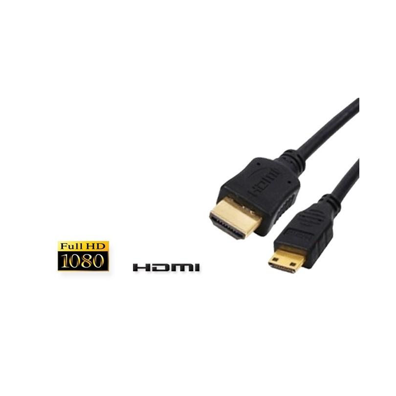 cordon hdmi type a vers mini hdmi type c connecteurs or m. Black Bedroom Furniture Sets. Home Design Ideas