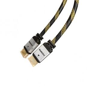 Cordon HDMI High Speed with Ethernet - Doré - HQ - M / M - 3 m