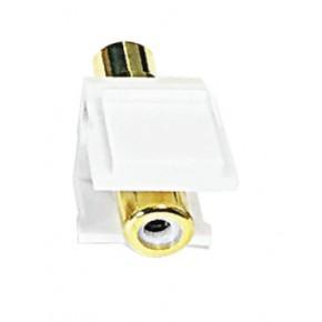 Keystone plastique blanc RCA blanc F / F