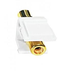 Keystone plastique blanc RCA jaune F / F