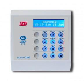Clavier LCD en ABS + lecteur Prox.- 1 badge porte clés fourni - Compatible Harmonia I et II -NF&A2P