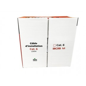 UPTEC - Câble F/UTP - LS0H - Cuivre -  Monobrin Cat 6 Gris - 305 m