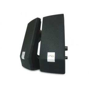 Enceintes noires - USB 2.0 - 2W RMS