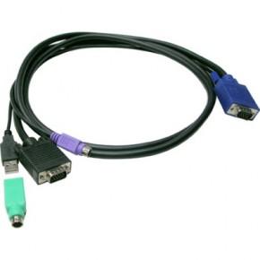 Câble KVM Combo USB & PS/2 M / M - 1,2 m