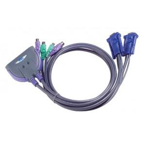 KVM Pocket 2 ports VGA & PS/2 avec câbles 0.9 m - CS62/CS62Z/CS62S