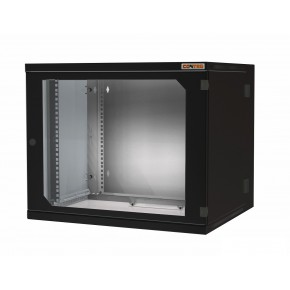 """Coffret 19"""" 15U noir prof. 500 mm soudé avec panneaux amovibles"""