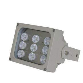 Projecteurs d'éclairage infrarouge avec portée de 140 mètres, 45°