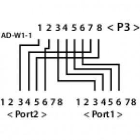 Doubleur de ligne téléphonique 2 lignes téléphones séparées - 0,15m