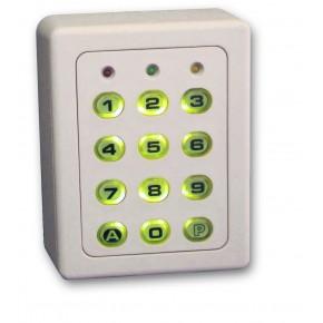 Clavier 2 relais, 60 codes, IP65, 12/24 Vcc/ca - boîtier et touches en ABS