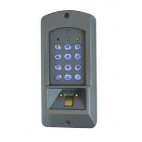 Lect biométrique Badge EM - extérieur IP55 - 800 utilisateurs -12 Vcc - 2 sorties relais - autonome + wiegand + ELA