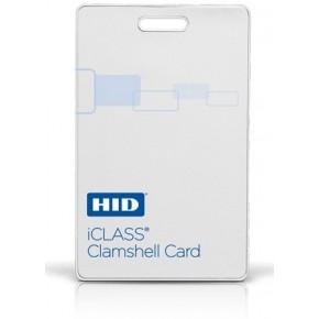 Badge ICLASS format carte épaisse blanche - 2K avec 2 secteurs - numérotation séquentielle imprimée