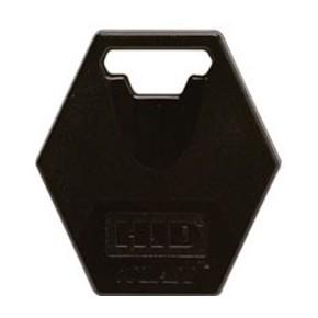 Badge ICLASS format porte-clefs ISO noir - 2K avec 2 secteurs - numérotation séquentielle imprimée