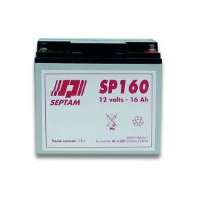Batterie étanche 12V - 16Ah FR V0 - emballé individuellement