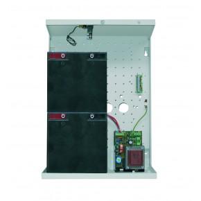Alimentation 2A /12V en coffret métal   pouvant recevoir 2 batteries SP250 (2 x 25 Ah) NF&A2P