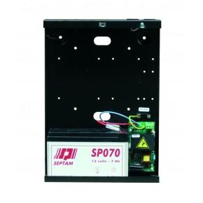 Alimentation 4A /12V en coffret métal pouvant recevoir une batterie SP070 ( 7Ah) - Dim : 300 x 217 x 80 mm