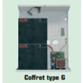Alimentation 5A /24V en coffret métal pouvant revevoir 2 x batteries SP250 (2x 25Ah) - Dim : 425 x 315 x 175