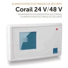 Coffret d'alimentation à poser- 48V 8A - Capacité maxi 65Ah sous 48V (prévoir 4 batteries 12V)