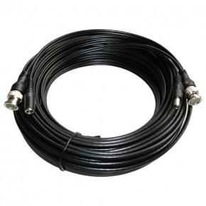 Câble coaxial rallonge de signal vidéo et de l´alimentation L:30m connecteur RCA