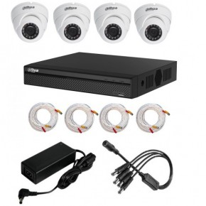 Kit1mpx Hd-Cvi 4domes+Dvr4voies720p