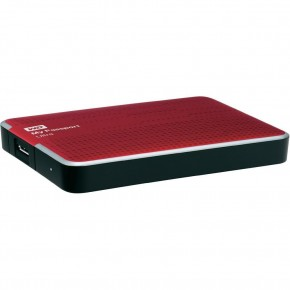 "Disque dur externe 2.5"" - USB 3.0 - 2 To - WD My Passport Ultra Rouge"