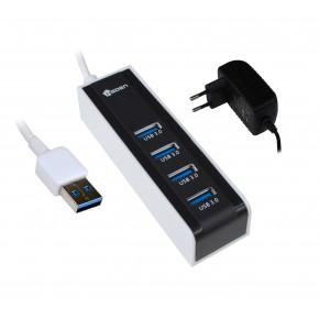 Hub USB 3.0 - 4 ports avec alimentation
