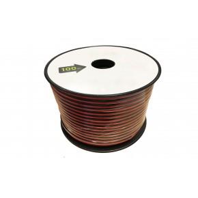 Bobine câble HP - 2x2,5mm² - Noir & Rouge - 100m
