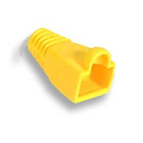 Manchon Jaune pour RJ45 - Diam 6.1mm - Paquet de 10 pcs