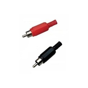 Connecteur RCA Mâle rouge