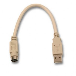 Adaptateur USB M type A vers PS/2 F - 0.15 m