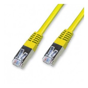 Cordon Cat 6 FTP Jaune - 0.15 m