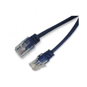 """Cordon RJ45 1 paire bleu 4/5 """"téléphone"""" 100 ohms - 5 m 100% cuivre"""