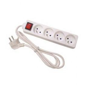 Multiprise 2P+T 4 prises avec interrupteur - 1.5 m