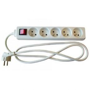 Multiprise 2P+T 5 prises avec interrupteur - 1.5 m