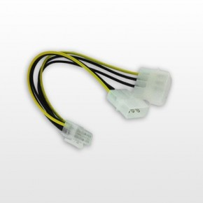 Adaptateur Alimentation double Molex 5 1/4 vers 6 Points Carte PCI