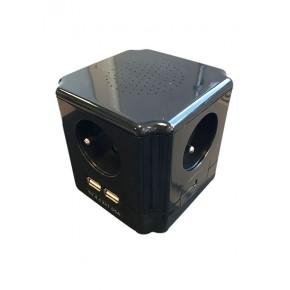 Powercube multiprises 4 ports parasurtenseur & 2 ports USB 1A