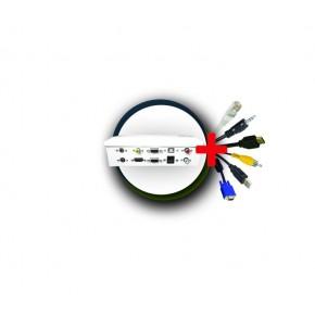 UPTEC - Pack boîtier déport métal + cordons 10m (USB 5m)