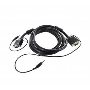 Cordon SVGA + Audio ''Platinum'' Full Pin - AWG26 - M/M - 1 m