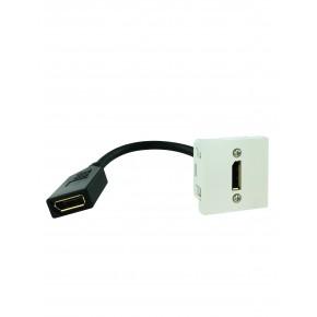 Plastron 45x45 DisplayPort 1.2 F-F - AWG28 – 0,20m