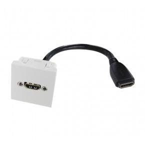 Plastron 45x45 HDMI F/F - AWG28 - 0.20m