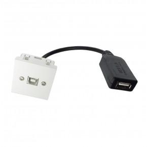 Plastron 45x45 USB B F vers USB A F Amplifié – 0.2m